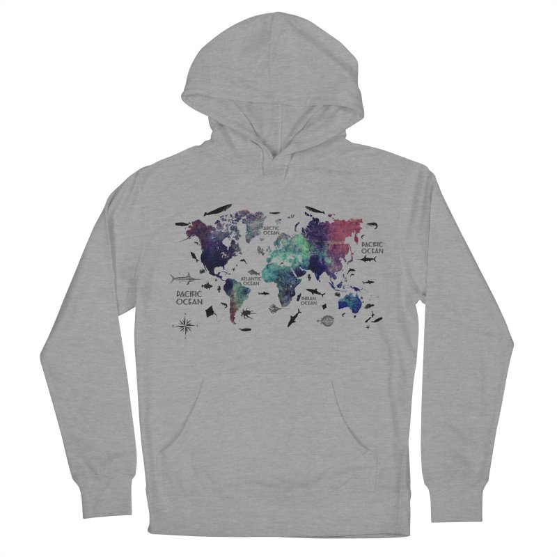 world map 12 Women's French Terry Pullover Hoody by jbjart Artist Shop