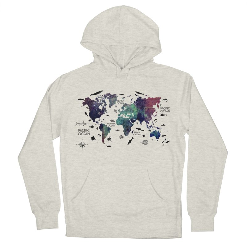 world map 12 Men's French Terry Pullover Hoody by jbjart Artist Shop