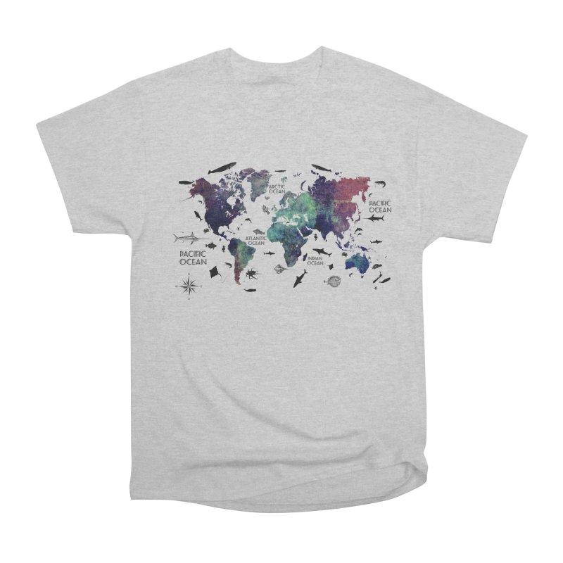 world map 12 Women's Heavyweight Unisex T-Shirt by jbjart Artist Shop