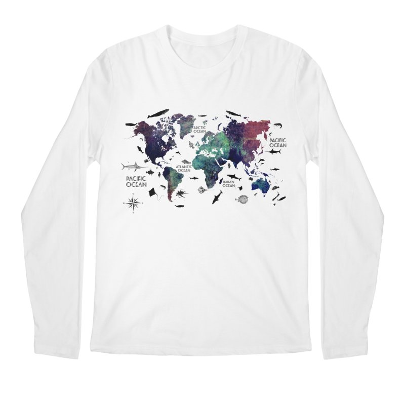 world map 12 Men's Regular Longsleeve T-Shirt by jbjart Artist Shop