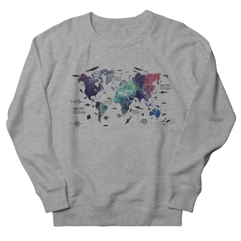 world map 12 Women's French Terry Sweatshirt by jbjart Artist Shop