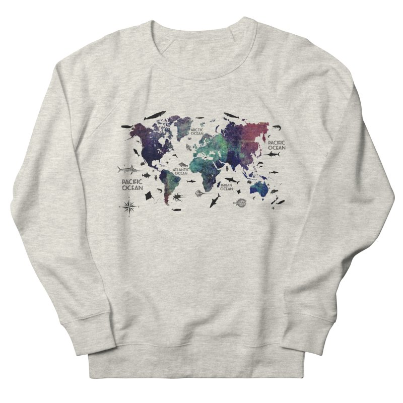 world map 12 Women's French Terry Sweatshirt by jbjart Artist Shop