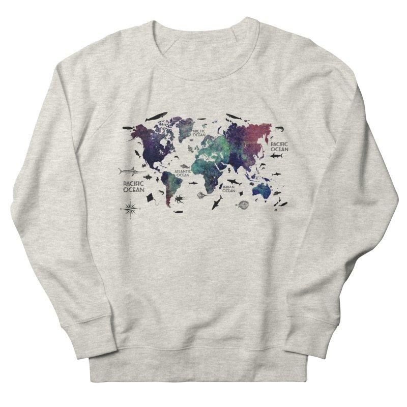 world map 12 Men's French Terry Sweatshirt by jbjart Artist Shop