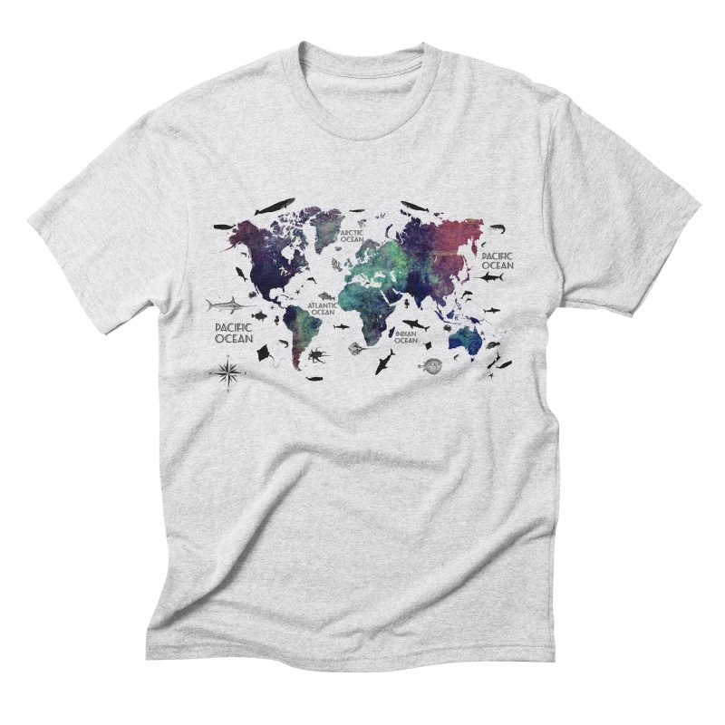 world map 12 Men's Triblend T-Shirt by jbjart Artist Shop