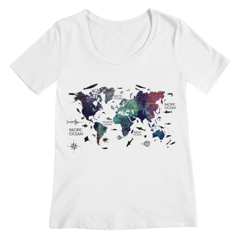world map 12 Women's Regular Scoop Neck by jbjart Artist Shop