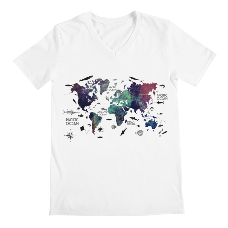 world map 12 Men's V-Neck by jbjart Artist Shop