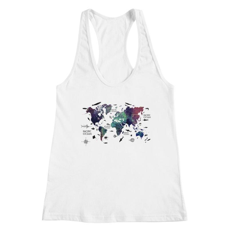 world map 12 Women's Tank by jbjart Artist Shop