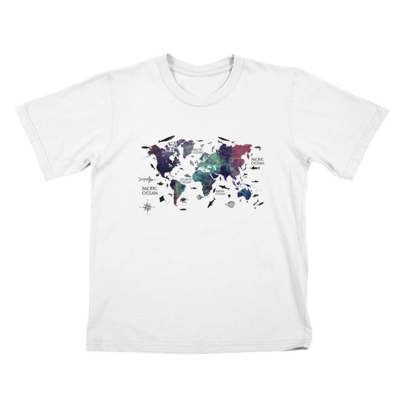 world map 12 Kids T-Shirt by jbjart Artist Shop