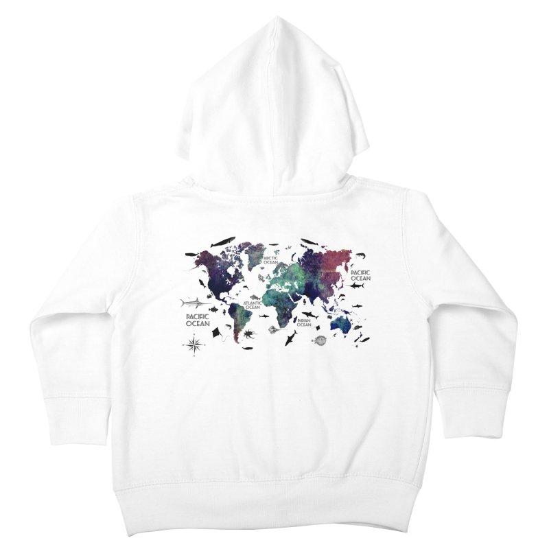 world map 12 Kids Toddler Zip-Up Hoody by jbjart Artist Shop