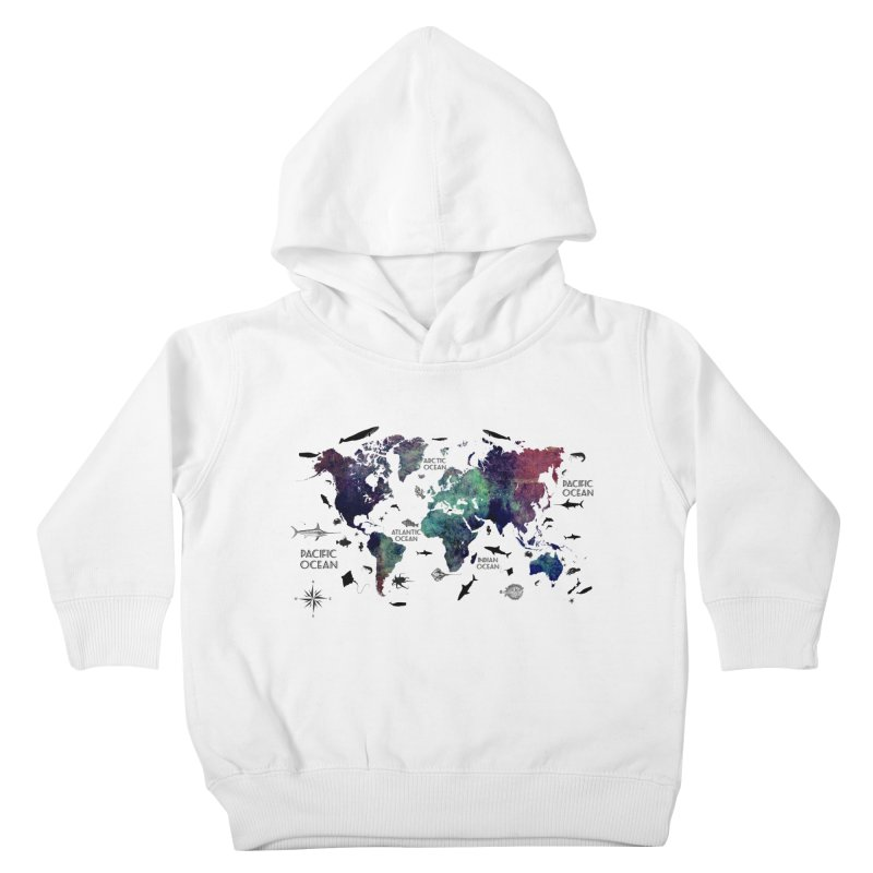world map 12 Kids Toddler Pullover Hoody by jbjart Artist Shop
