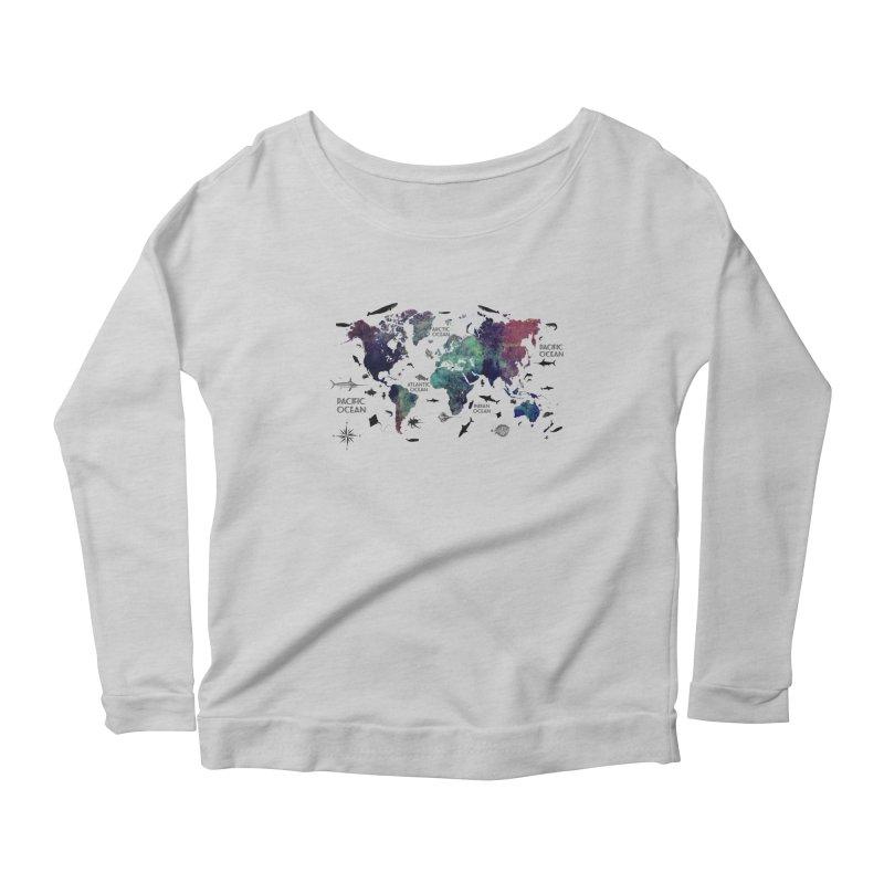 world map 12 Women's Longsleeve T-Shirt by jbjart Artist Shop