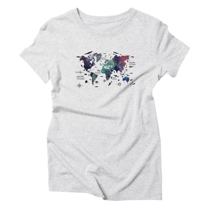 world map 12 Women's Triblend T-Shirt by jbjart Artist Shop
