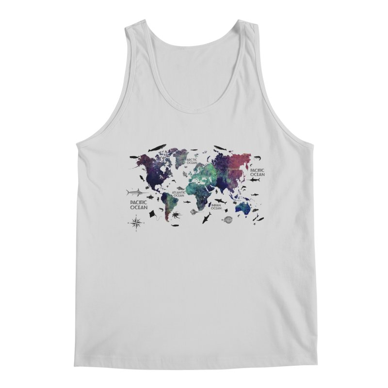 world map 12 Men's Regular Tank by jbjart Artist Shop