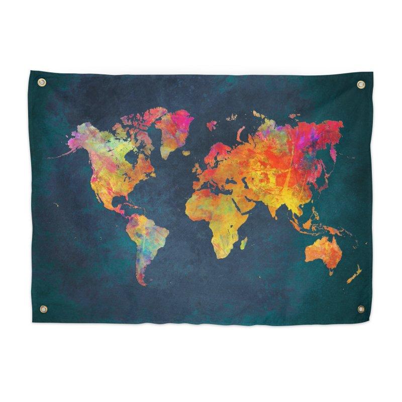 world map 13 in Tapestry by jbjart Artist Shop