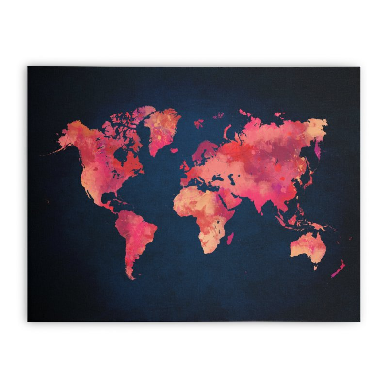 world map 15 in Stretched Canvas by jbjart Artist Shop