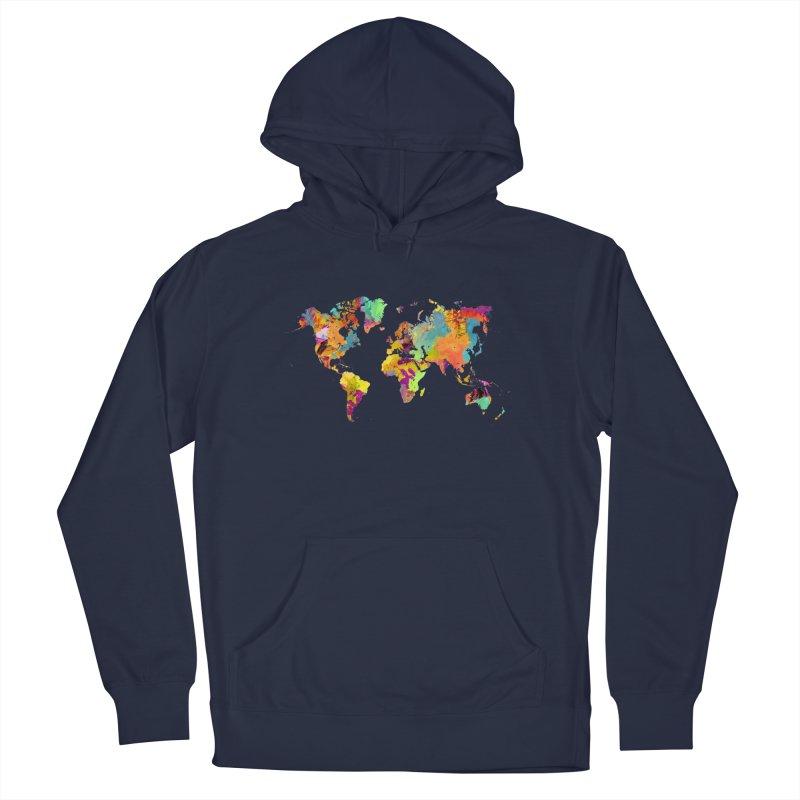 world map colors 16 Men's Pullover Hoody by jbjart Artist Shop
