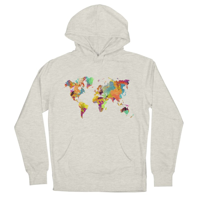 world map colors 16 Women's French Terry Pullover Hoody by jbjart Artist Shop