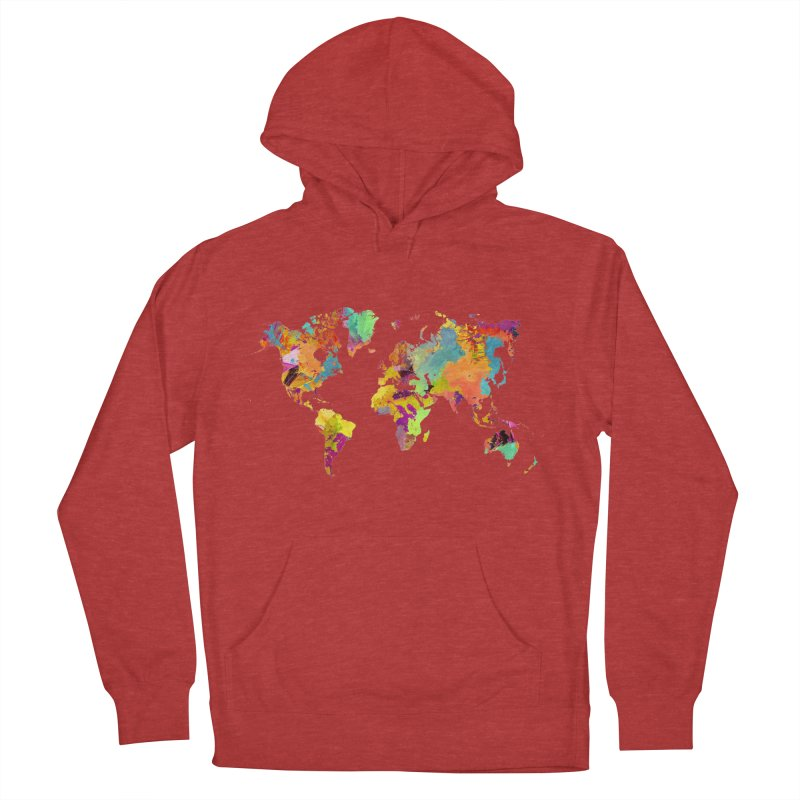 world map colors 16 Men's French Terry Pullover Hoody by jbjart Artist Shop