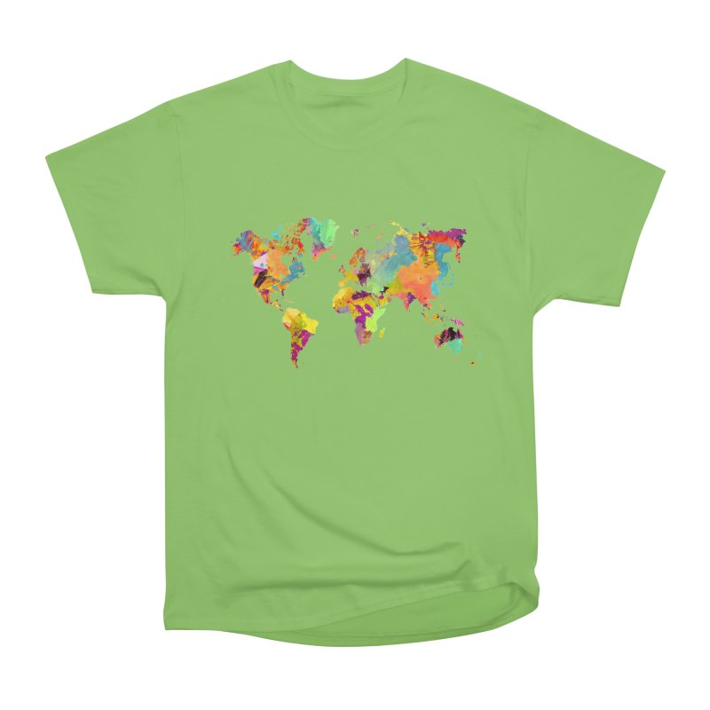 world map colors 16 Men's Heavyweight T-Shirt by jbjart Artist Shop