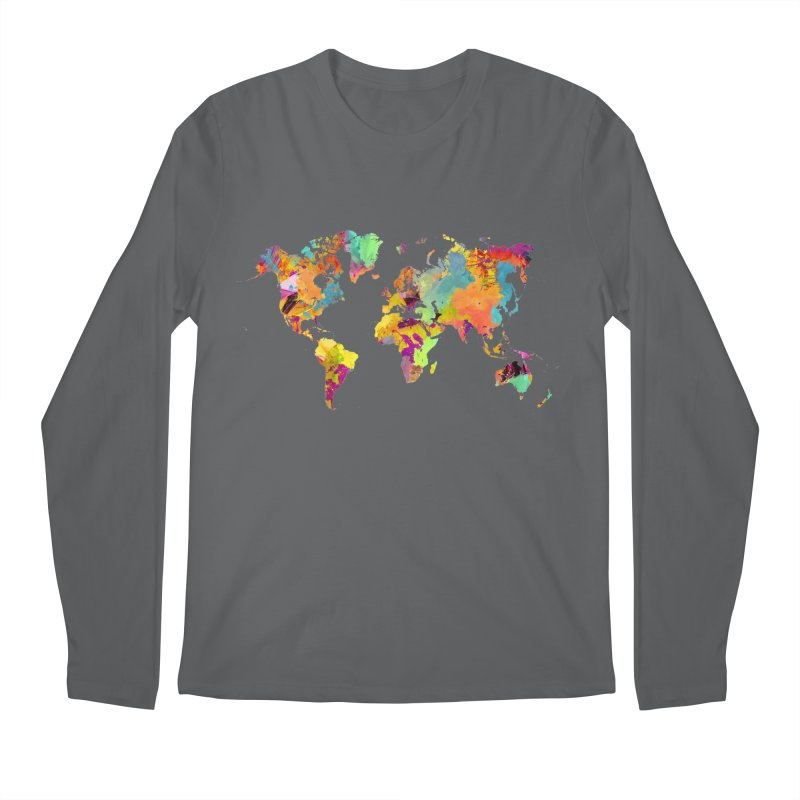 world map colors 16 Men's Longsleeve T-Shirt by jbjart Artist Shop