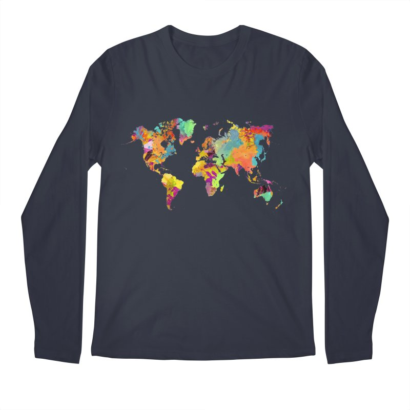 world map colors 16 Men's Regular Longsleeve T-Shirt by jbjart Artist Shop