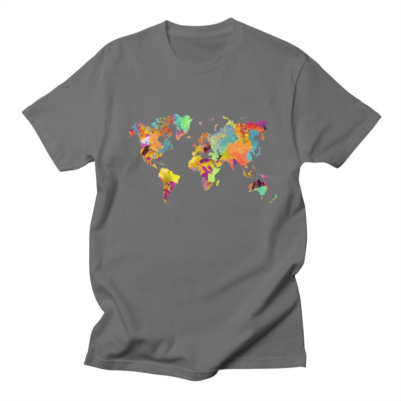 world map colors 16 Men's T-Shirt by jbjart Artist Shop