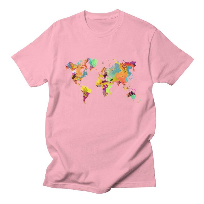 world map colors 16 Men's Regular T-Shirt by jbjart Artist Shop
