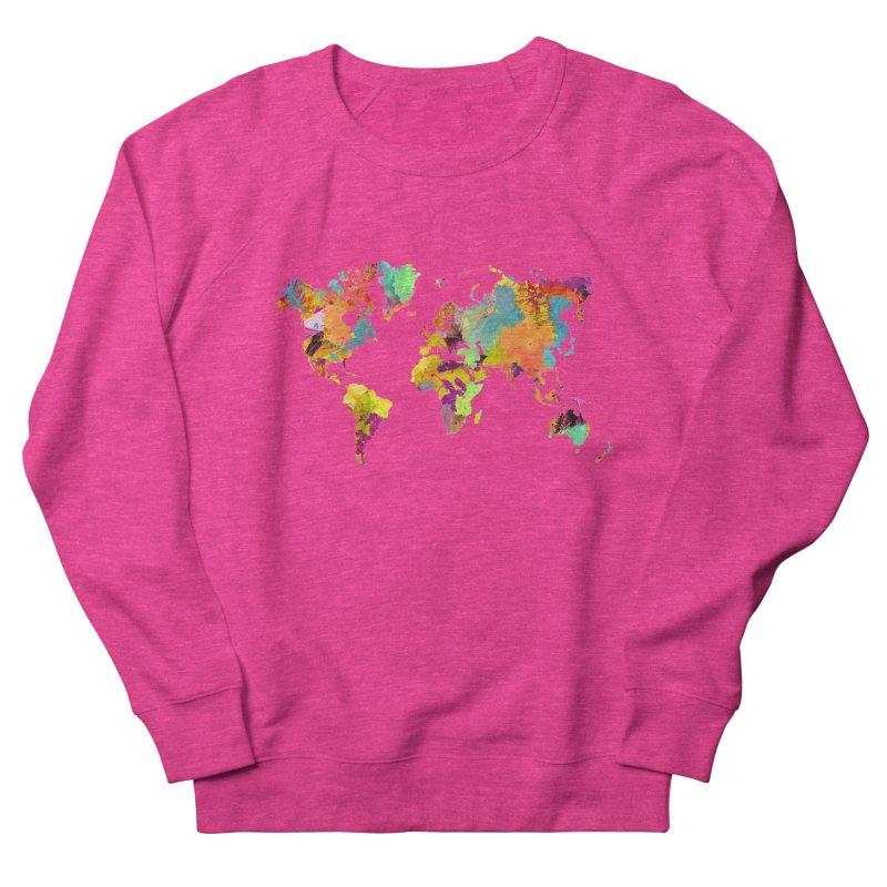 world map colors 16 Women's French Terry Sweatshirt by jbjart Artist Shop