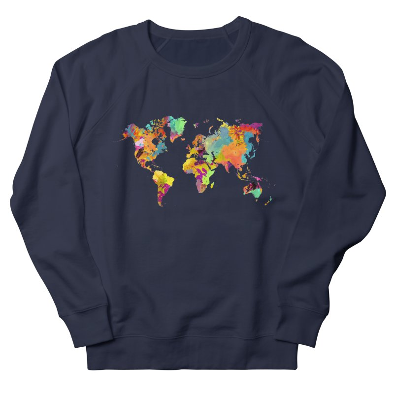 world map colors 16 Women's French Terry Sweatshirt by jbjart Artist Shop