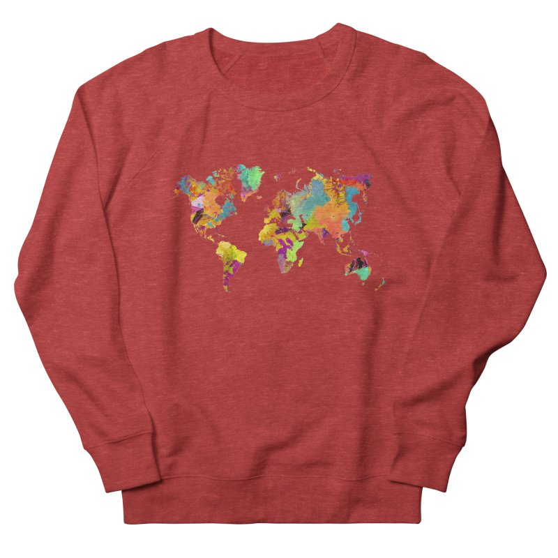 world map colors 16 Men's French Terry Sweatshirt by jbjart Artist Shop