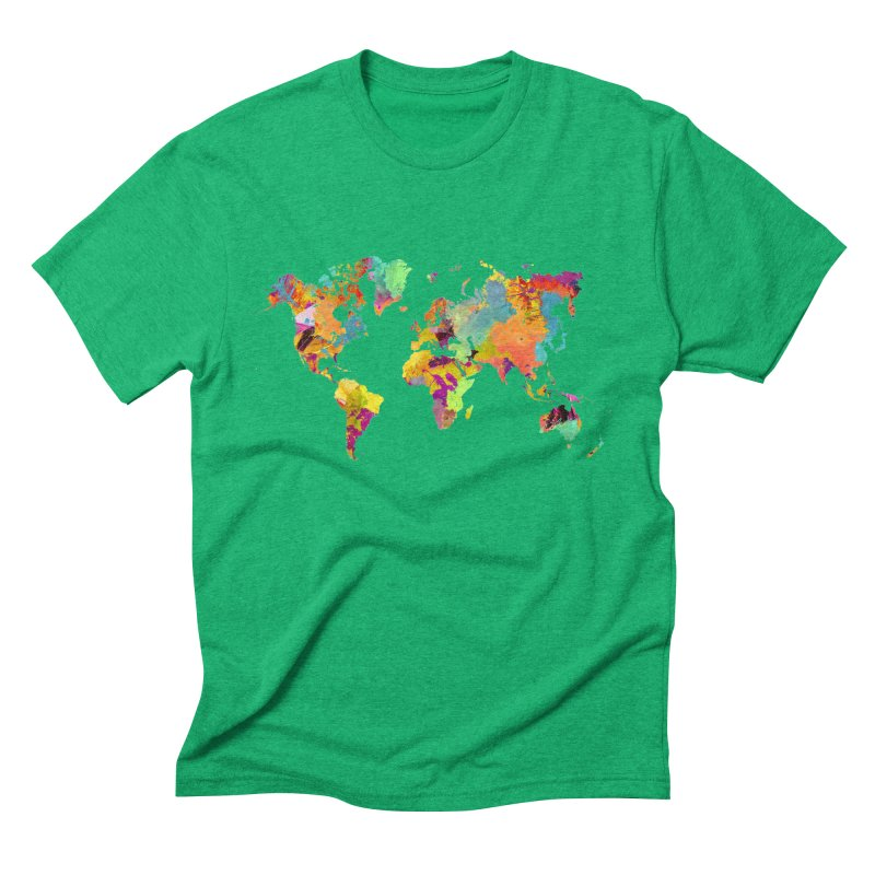 world map colors 16 Men's Triblend T-Shirt by jbjart Artist Shop