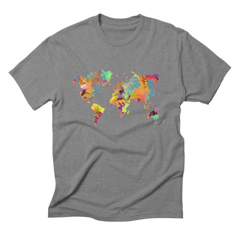 world map colors 16 Men's Triblend T-Shirt by jbjart Artist Shop