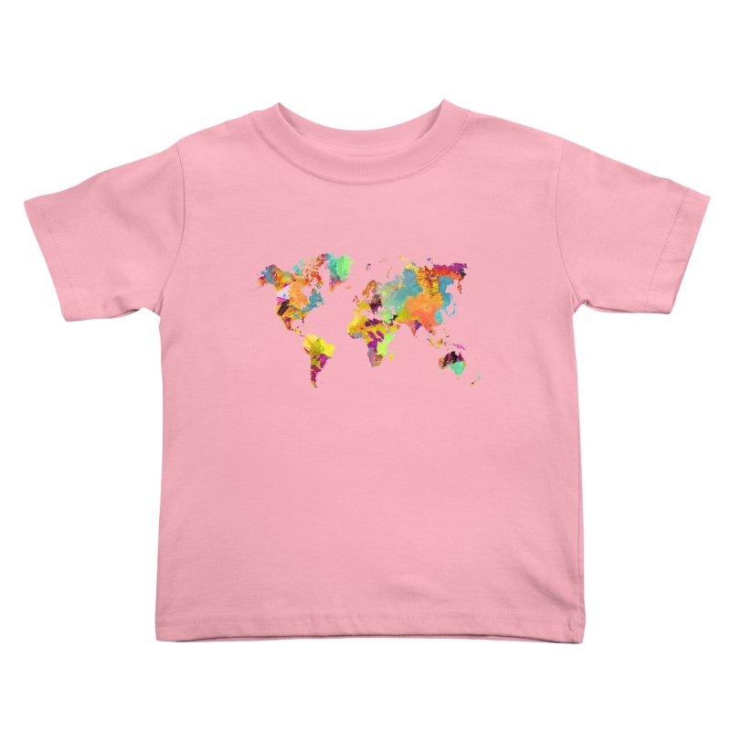 world map colors 16 Kids Toddler T-Shirt by jbjart Artist Shop
