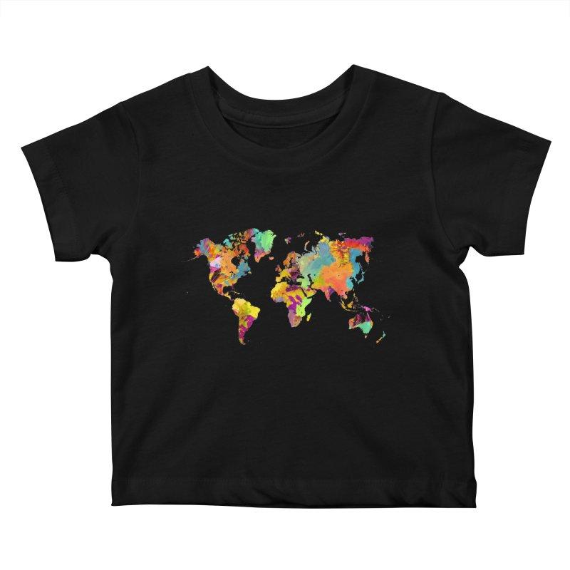 world map colors 16 Kids Baby T-Shirt by jbjart Artist Shop