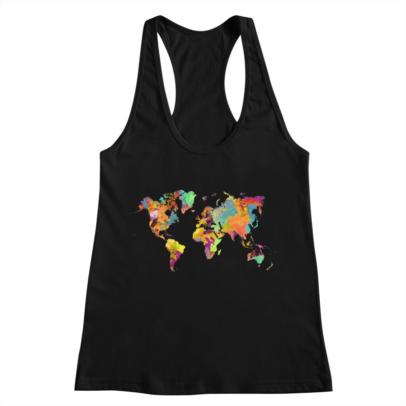 world map colors 16 Women's Racerback Tank by jbjart Artist Shop