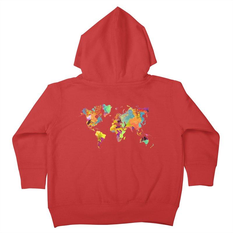 world map colors 16 Kids Toddler Zip-Up Hoody by jbjart Artist Shop