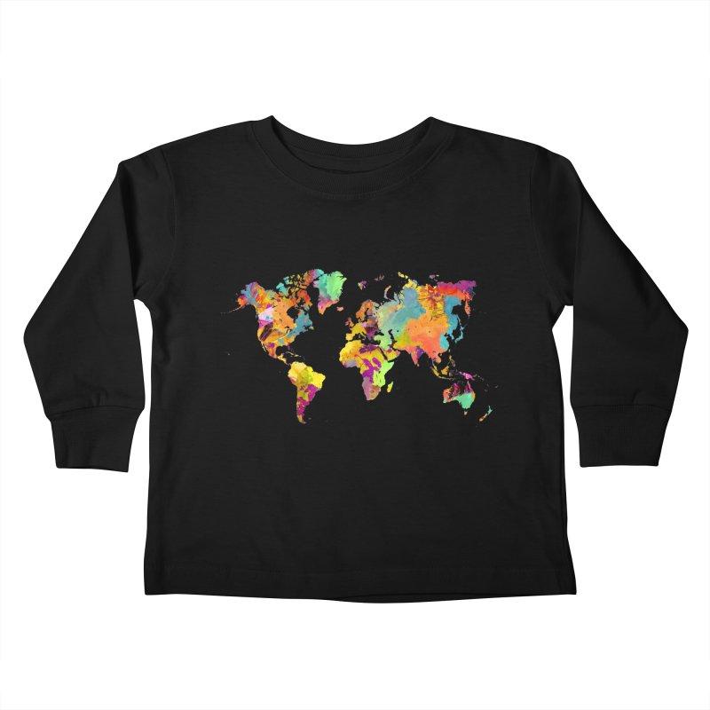 world map colors 16 Kids Toddler Longsleeve T-Shirt by jbjart Artist Shop