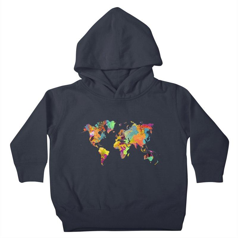 world map colors 16 Kids Toddler Pullover Hoody by jbjart Artist Shop