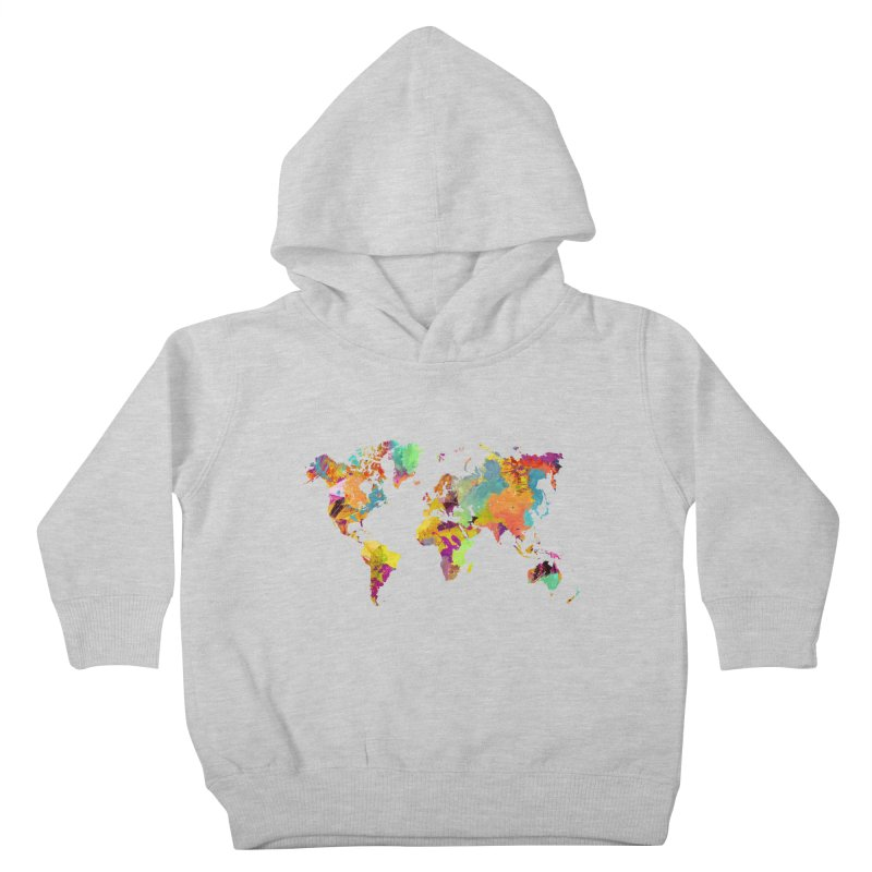 world map colors 16 Kids Toddler Pullover Hoody by jbjart Artist Shop