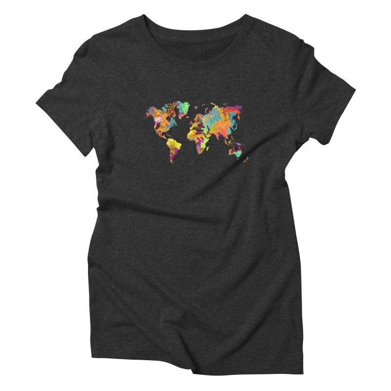 world map colors 16 Women's Triblend T-Shirt by jbjart Artist Shop