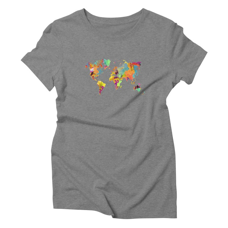world map colors 16 Women's Triblend T-Shirt by jbjart Artist Shop