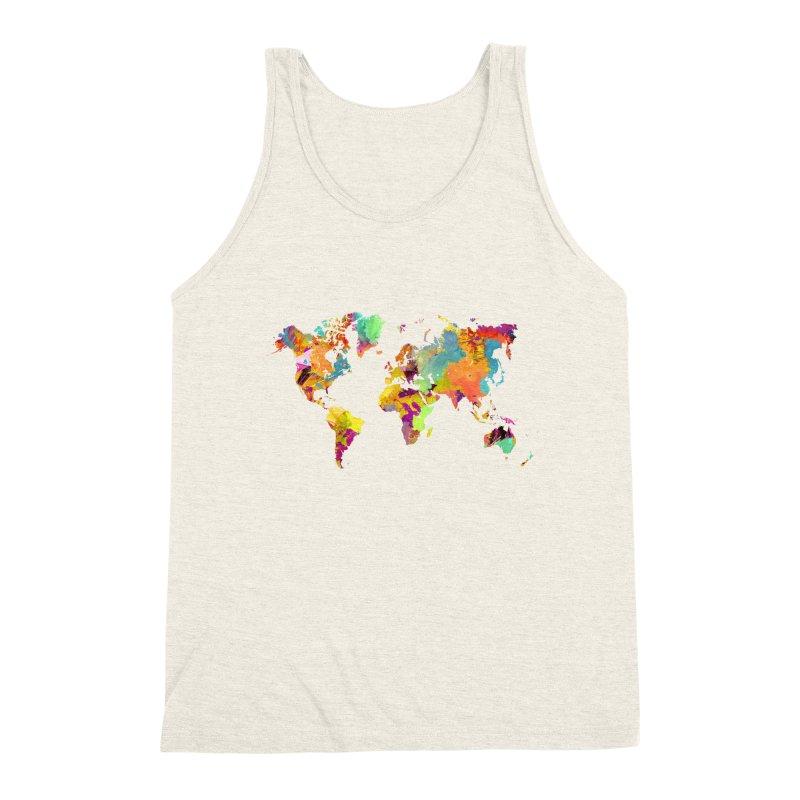 world map colors 16 Men's Triblend Tank by jbjart Artist Shop