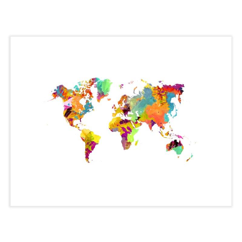 world map colors 16 Home Fine Art Print by jbjart Artist Shop