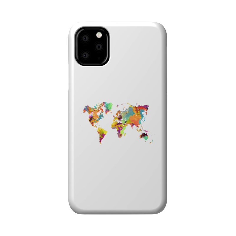 world map colors 16 Accessories Phone Case by jbjart Artist Shop