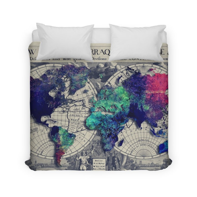 world map 17 in Duvet by jbjart Artist Shop