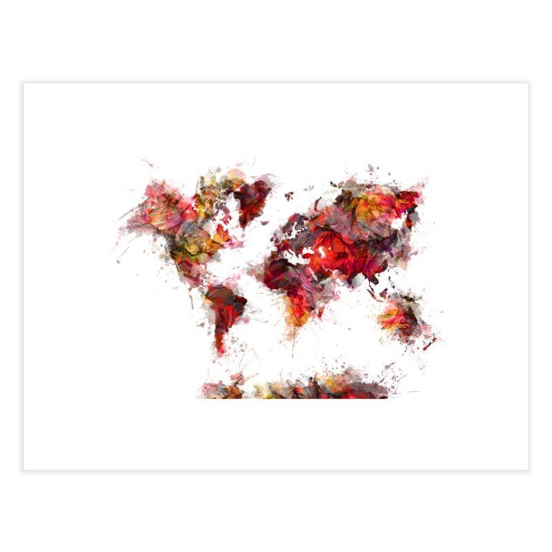 world map 19 Home Fine Art Print by jbjart Artist Shop