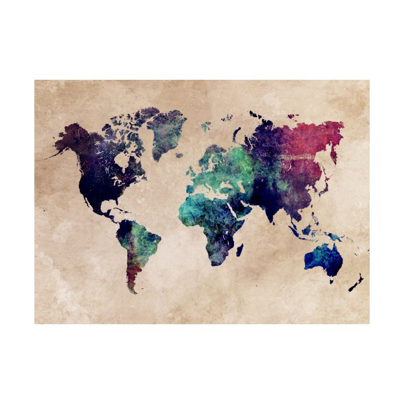world map 20 Home Tapestry by jbjart Artist Shop