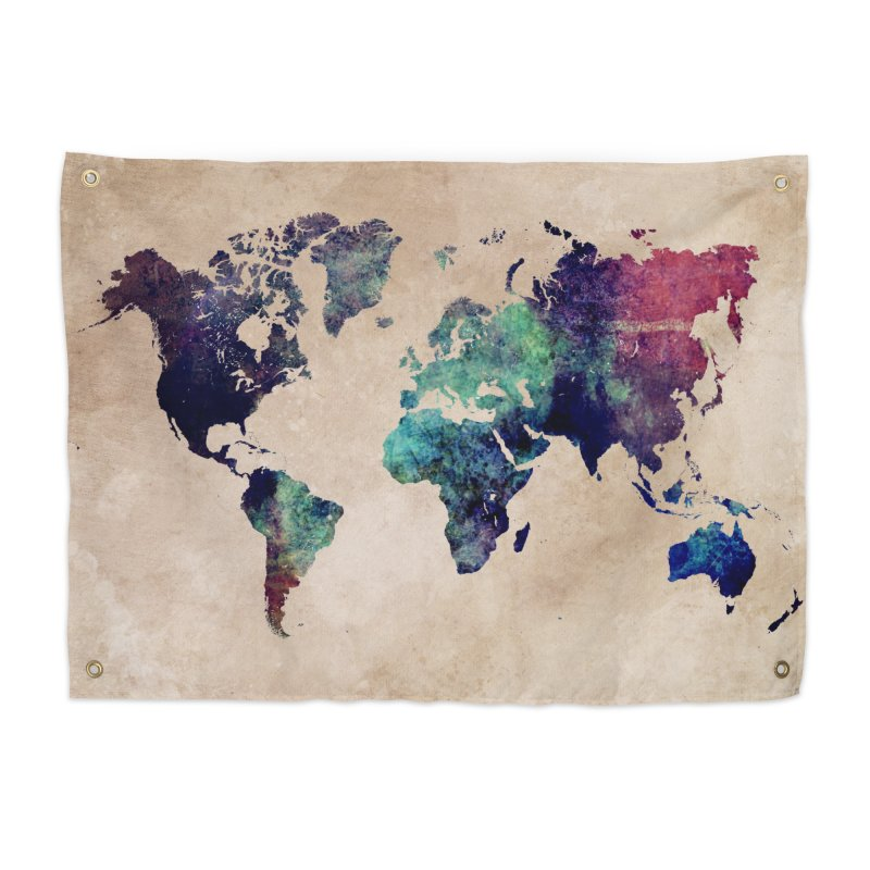 world map 20 in Tapestry by jbjart Artist Shop
