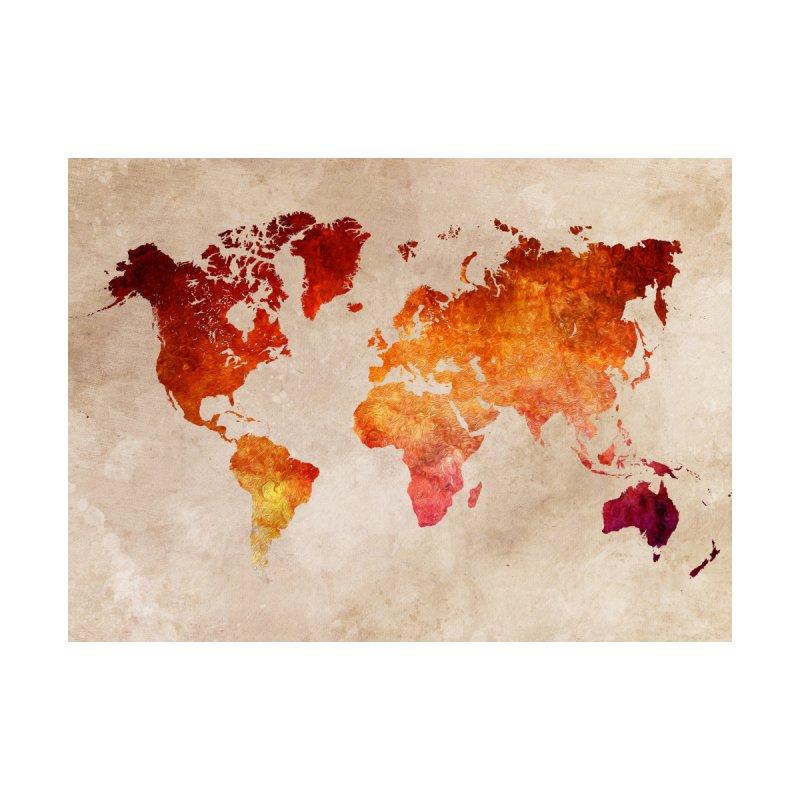 world map red 21 Home Fine Art Print by jbjart Artist Shop