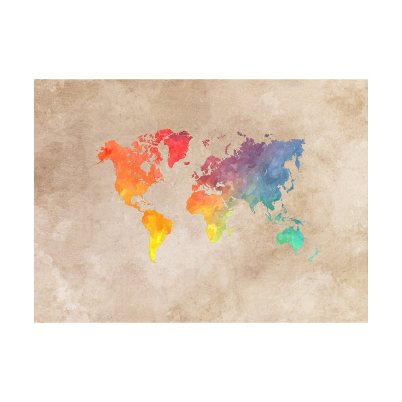 world map 23 Home Tapestry by jbjart Artist Shop